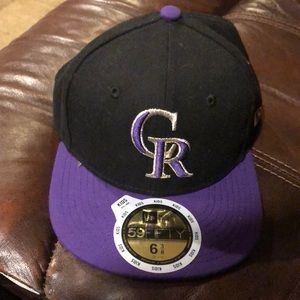 Colorado Rockies fitted boys baseball hat